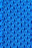 Pattern of fabric. Abstract background of blue fabric Royalty Free Stock Photos
