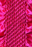 Pattern of fabric. Abstract background of pink fabric Stock Image