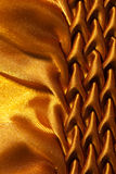 Pattern of fabric. Abstract background  of yellow fabric Stock Photo