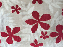 The pattern on fabric flower Stock Image