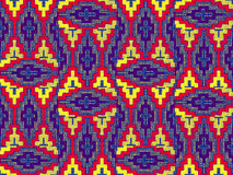 The pattern on fabric, handmade Royalty Free Stock Photos