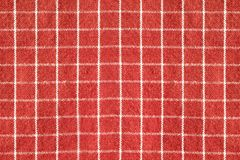 The pattern the fabric surface is red and white contrasting. Red and white gingham tablecloth texture background Royalty Free Stock Image