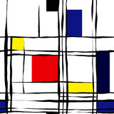 Pattern fake Mondrian Royalty Free Stock Photography