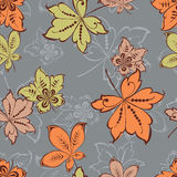 Pattern of the fall leaves Royalty Free Stock Photos