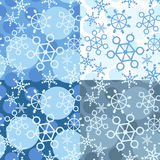 Pattern with falling snowflakes Stock Image