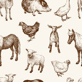 Pattern of the farm animals Royalty Free Stock Image