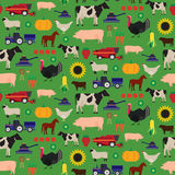 Pattern Farm different colors. Seamless farm and agriculture vector pattern Stock Images