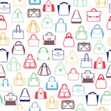 Pattern of Fashion Bags, Women and men bags Stock Image