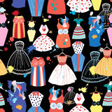 Pattern of fashionable dresses Royalty Free Stock Images