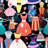 Pattern of fashionable dresses Royalty Free Stock Image