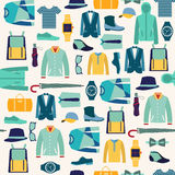Pattern fashionable mens wear background Royalty Free Stock Photos