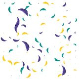 Pattern of feathers carnival celebration stock illustration
