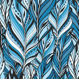 Pattern with feathers Stock Image