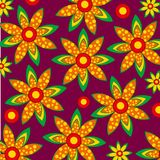 Pattern from figures. Bright and colorful pattern from figures on rose background Stock Photos