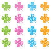 Pattern Filled Clovers Royalty Free Stock Photo
