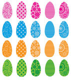 Pattern Filled Eggs Royalty Free Stock Photos