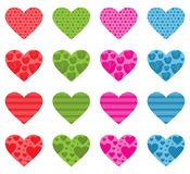 Pattern Filled Hearts Stock Image