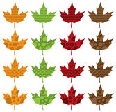 Pattern Filled Maple Leaves Royalty Free Stock Photos