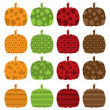 Pattern Filled Pumpkins Royalty Free Stock Photo