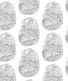 Pattern  fingerprint. Seamless hand draw ink vector pattern in fingerprint style Royalty Free Stock Photos