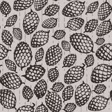 Pattern with fir cone Royalty Free Stock Images