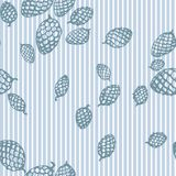 Pattern with fir cone and stripes Stock Image