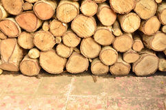 Pattern of firewood Royalty Free Stock Image