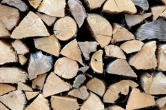 Pattern firewood Royalty Free Stock Photos