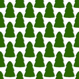 Pattern with firs Royalty Free Stock Photos