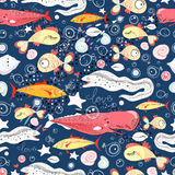 Pattern of fish Royalty Free Stock Photo