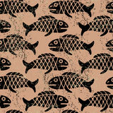 Pattern with fish Royalty Free Stock Photo