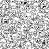 Pattern with fish Stock Image