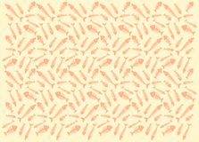 Pattern with fish skeletons. Seamless beige pattern with silhouettes of the fish bones Stock Images