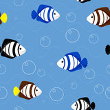 Pattern with fish. Vector pattern with fish. This is file of EPS8 format Stock Images