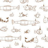 Pattern with fishes. Stock Photography