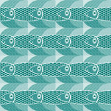 Pattern with fishes Stock Image