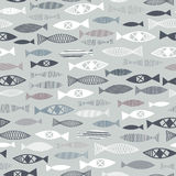 pattern of fishes Royalty Free Stock Image