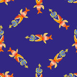 Pattern with fishes Stock Photo