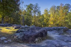 The Pattern of the Flat Rocks. `The Pattern of the Flat Rocks` is photo taken in Flat Rock Park, located in Columbus, Georgia royalty free stock photo