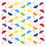 Pattern with flat umbrellas Royalty Free Stock Photo