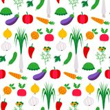 Pattern flat with vegetables Stock Photography