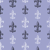 Pattern of  Fleur De Lys Stock Photo