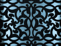 Pattern. Floral arabic pattern on blue background royalty free stock image