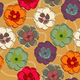 Pattern with floral background Royalty Free Stock Photos