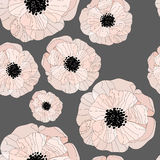 Pattern with floral background. Elegance Seamless pattern with floral delicate background Stock Images