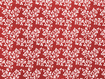 Pattern floral buds. Vintage pattern with floral buds in red and white Stock Photography