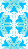 Pattern floral. Pattern  floral complex seamless blue Stock Photography