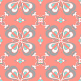 Pattern. Floral complex seamless circle Stock Photography