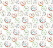 Pattern of floral design elements Royalty Free Stock Photos