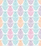 Pattern with floral easter eggs. Seamless pattern with floral easter eggs.Vector illustration stock illustration